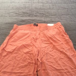 NWT express coral wide leg mid rise pants l